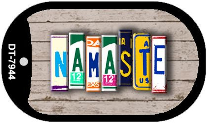 Namaste Plate Art Novelty Metal Dog Tag Necklace DT-7944