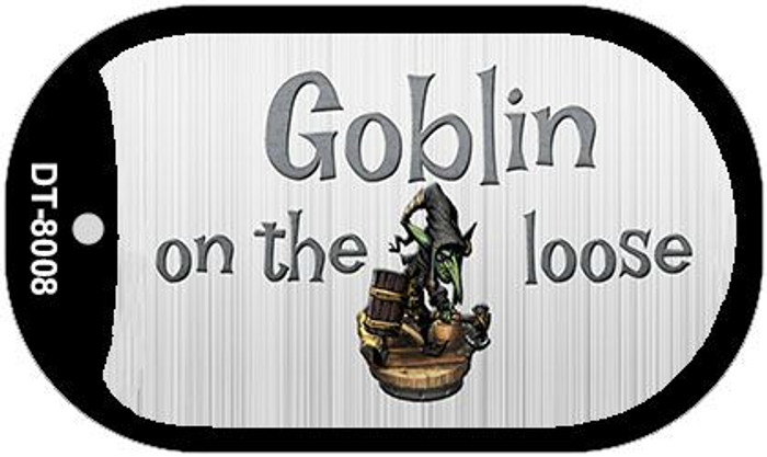 Goblin On The Loose Novelty Metal Dog Tag Necklace DT-8008