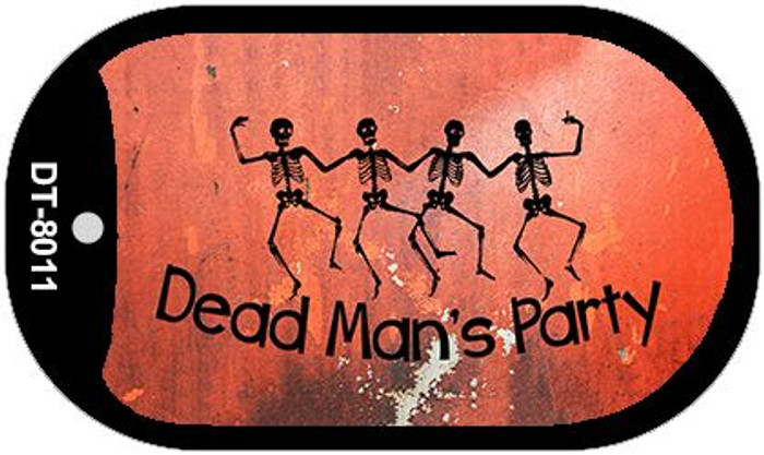 Dead Mans Party Novelty Metal Dog Tag Necklace DT-8011