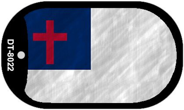 Christian Flag Novelty Metal Dog Tag Necklace DT-8022