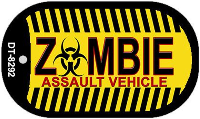 Zombie Assault Vehicle Novelty Metal Dog Tag Necklace DT-8292