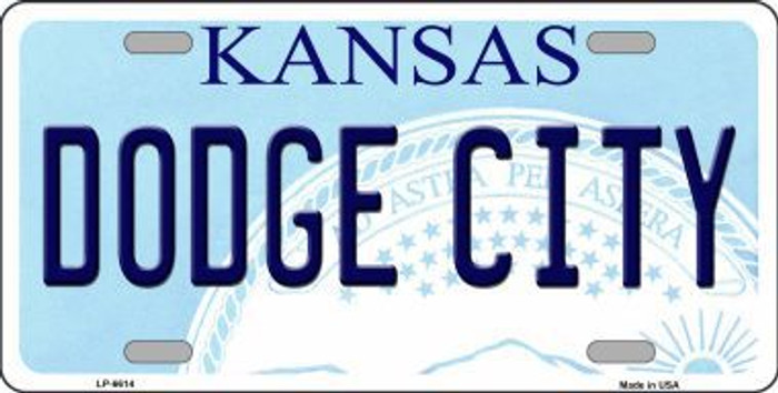 Dodge City Kansas Novelty Metal License Plate LP-6614