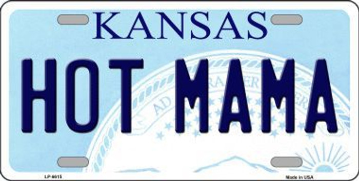 Hot Mama Kansas Novelty Metal License Plate LP-6615