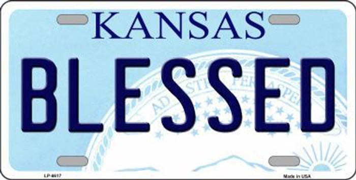 Blessed Kansas Novelty Metal License Plate LP-6617