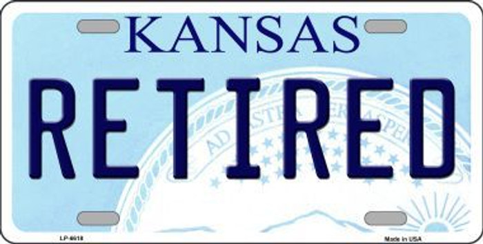 Retired Kansas Novelty Metal License Plate LP-6618