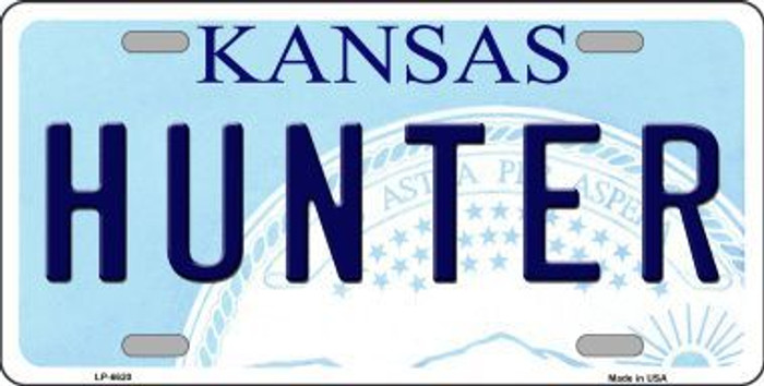 Hunter Kansas Novelty Metal License Plate LP-6620