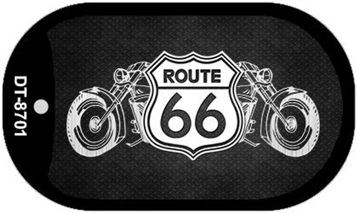 Route 66 Bikes Novelty Metal Dog Tag Necklace DT-8701