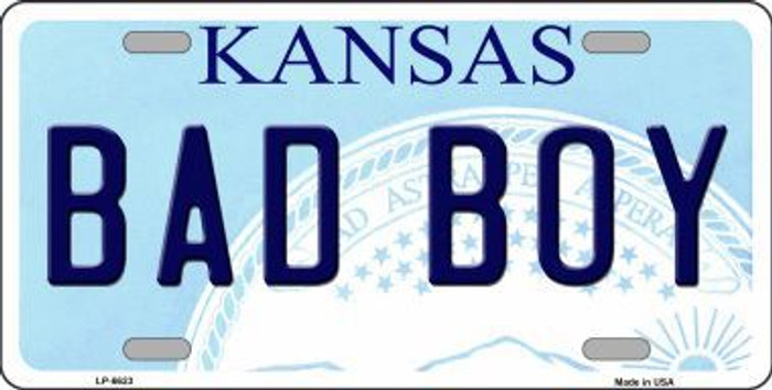 Bad Boy Kansas Novelty Metal License Plate LP-6623