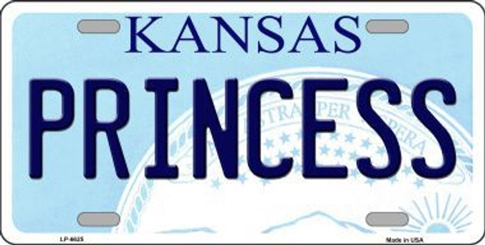 Princess Kansas Novelty Metal License Plate LP-6625