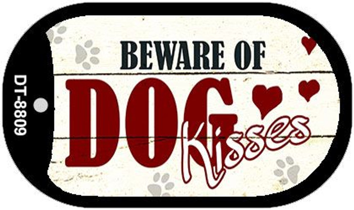Beware of Dogs Novelty Metal Dog Tag Necklace DT-8809