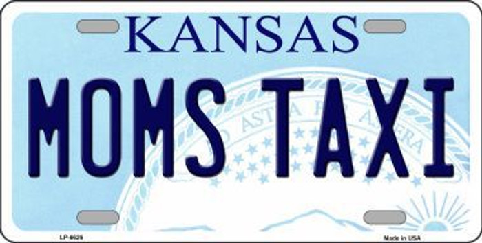 Moms Taxi Kansas Novelty Metal License Plate LP-6626