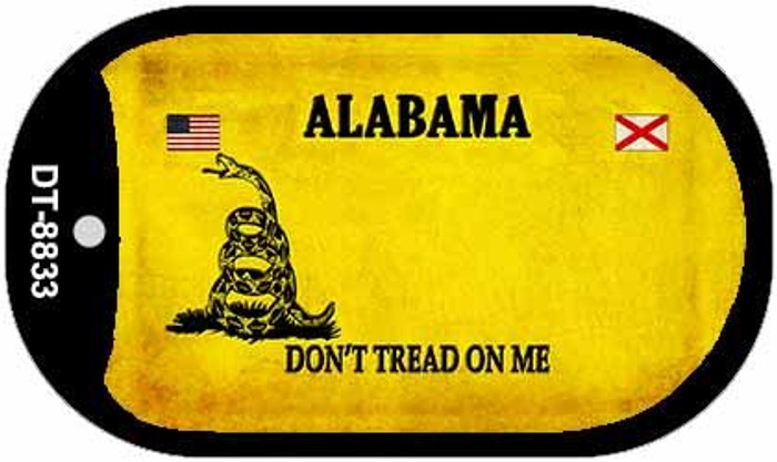 Alabama Do Not Tread Novelty Metal Dog Tag Necklace DT-8833