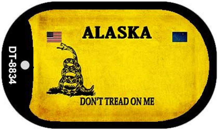 Alaska Do Not Tread Novelty Metal Dog Tag Necklace DT-8834
