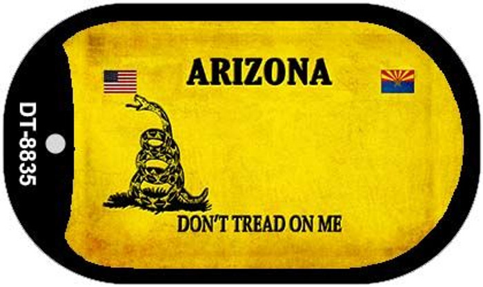 Arizona Do Not Tread Novelty Metal Dog Tag Necklace DT-8835