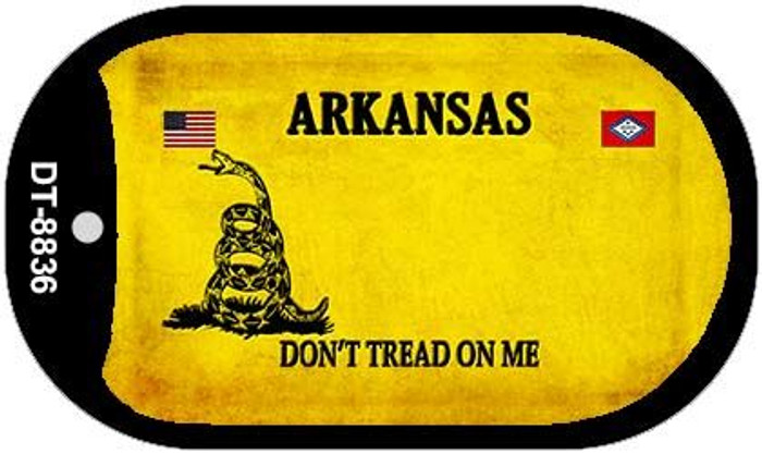 Arkansas Do Not Tread Novelty Metal Dog Tag Necklace DT-8836