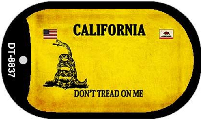 California Do Not Tread Novelty Metal Dog Tag Necklace DT-8837
