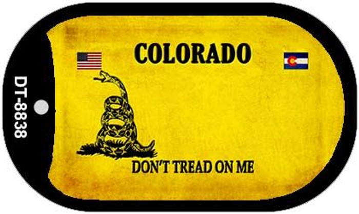 Colorado Do Not Tread Novelty Metal Dog Tag Necklace DT-8838