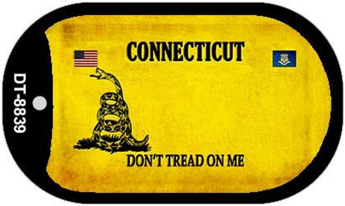 Connecticut Do Not Tread Novelty Metal Dog Tag Necklace DT-8839