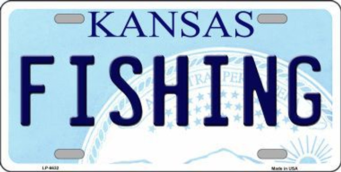 Fishing Kansas Novelty Metal License Plate LP-6632