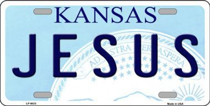 Jesus Kansas Novelty Metal License Plate