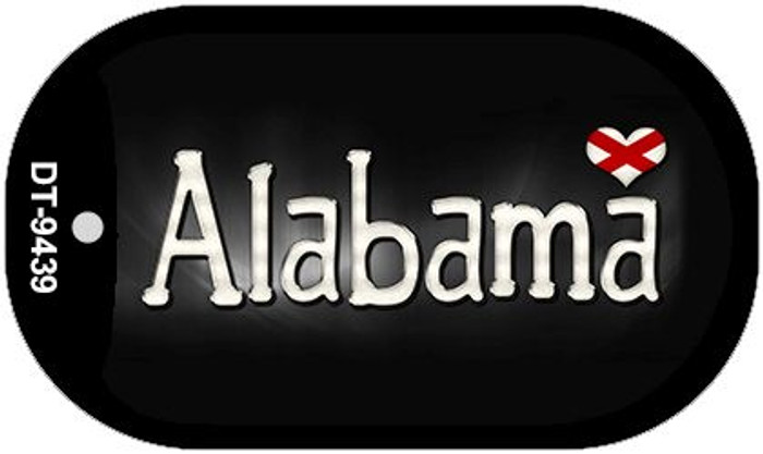 Alabama Flag Script Novelty Metal Dog Tag Necklace DT-9439