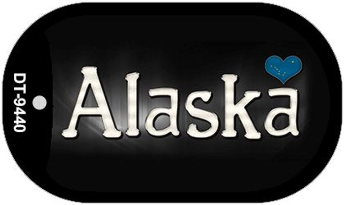 Alaska Flag Script Novelty Metal Dog Tag Necklace DT-9440