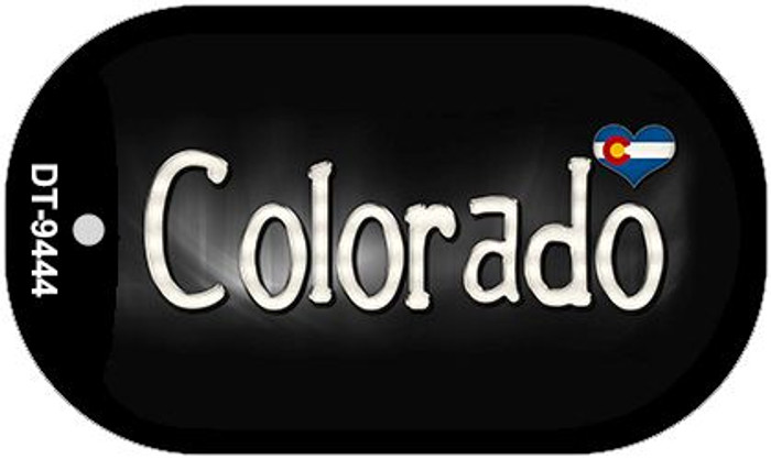 Colorado Flag Script Novelty Metal Dog Tag Necklace DT-9444