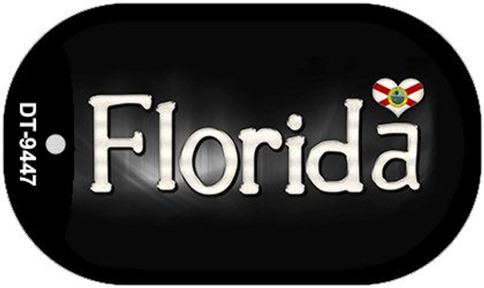 Florida Flag Script Novelty Metal Dog Tag Necklace DT-9447