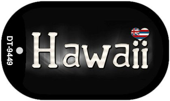 Hawaii Flag Script Novelty Metal Dog Tag Necklace DT-9449