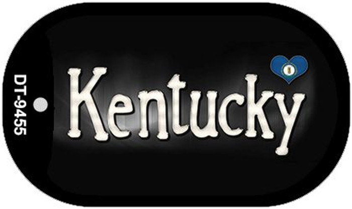 Kentucky Flag Script Novelty Metal Dog Tag Necklace DT-9455