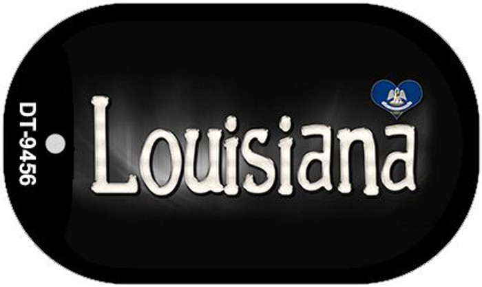 Louisiana Flag Script Novelty Metal Dog Tag Necklace DT-9456