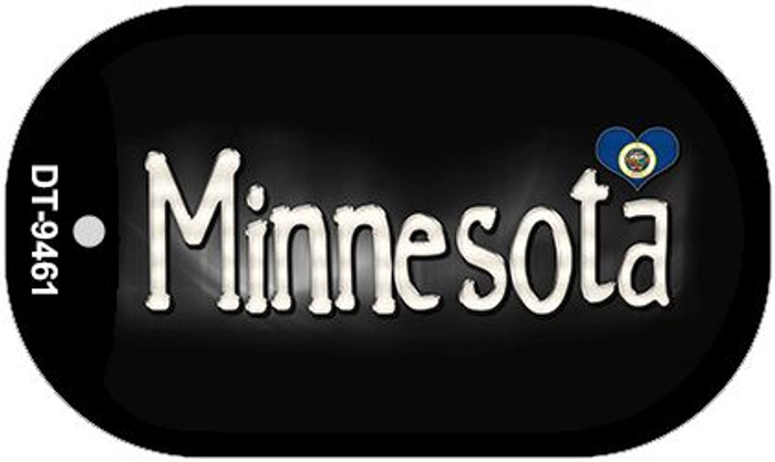 Minnesota Flag Script Novelty Metal Dog Tag Necklace DT-9461