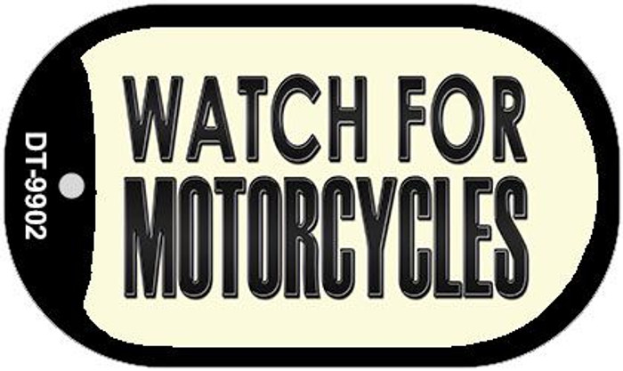 Watch For Motorcycle Novelty Metal Dog Tag Necklace DT-9902