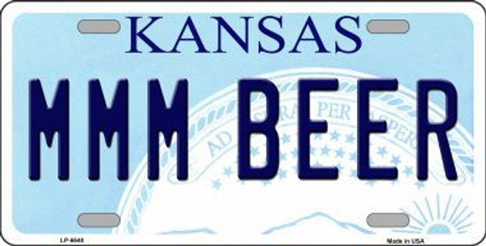 MMM Beer Kansas Novelty Metal License Plate