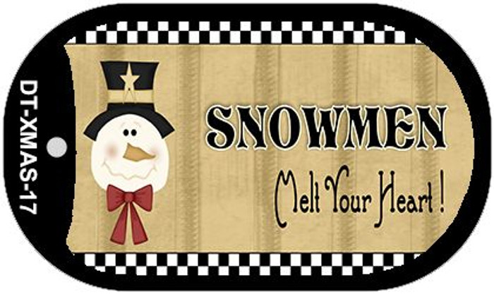 Snowmen Melt Your Heart Novelty Metal Dog Tag Necklace DT-XMAS-17