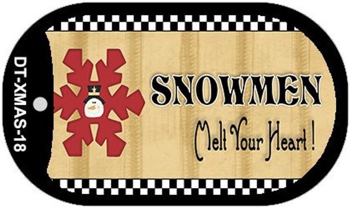 Snowflake Snowmen Melt Your Heart Novelty Metal Dog Tag Necklace DT-XMAS-18