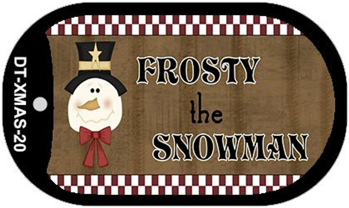Frosty The Snowman Novelty Metal Dog Tag Necklace DT-XMAS-20