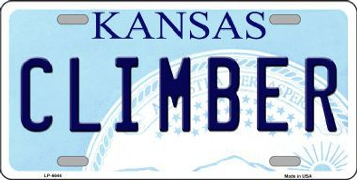 Climber Kansas Novelty Metal License Plate