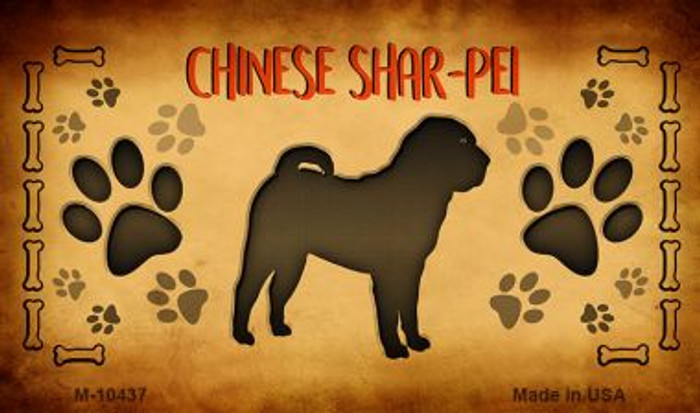 Chinese Shar-Pei Novelty Metal Magnet M-10437