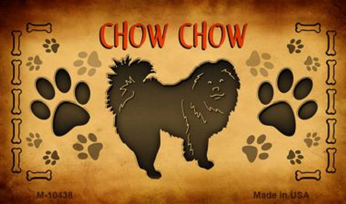 Chow Chow Novelty Metal Magnet M-10438