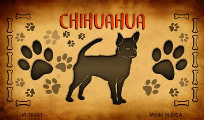 Chihuahua Novelty Metal Magnet M-10441