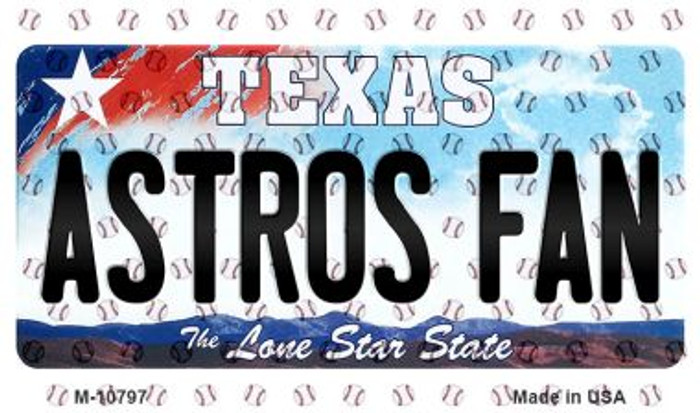Astros Fan Texas State Novelty Metal Magnet M-10797