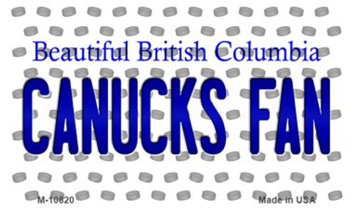 Canucks Fan British Columbia State Novelty Metal Magnet M-10820