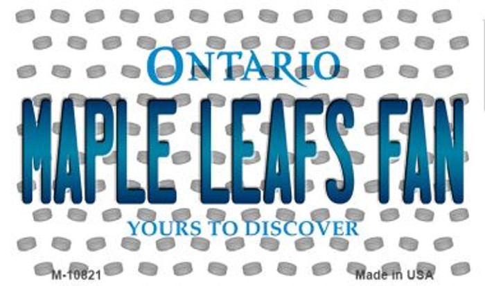 Maple Leafs Fan Ontario State Novelty Metal Magnet M-10821