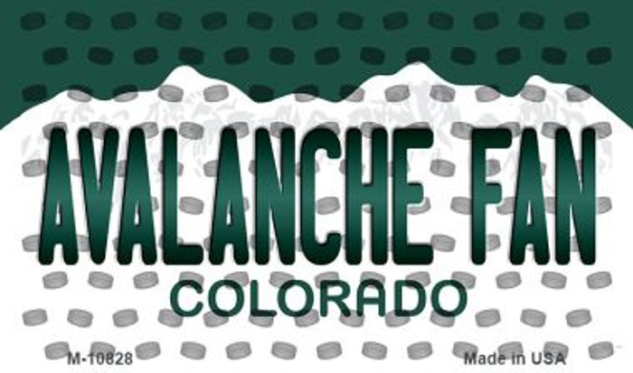 Avalanche Fan Colorado State Novelty Metal Magnet M-10828
