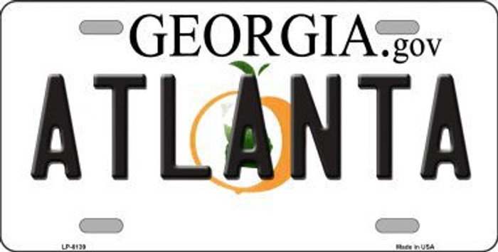 Atlanta Georgia Novelty Metal License Plate