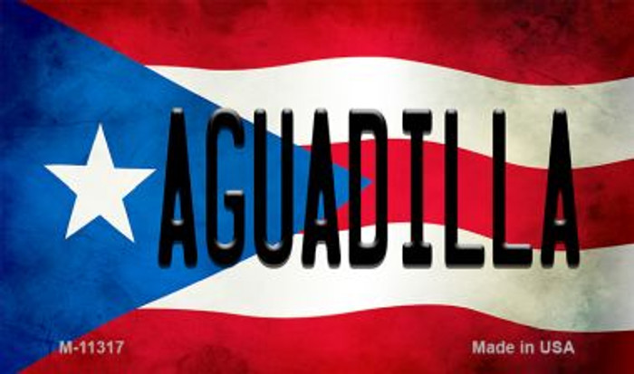 Aguadilla Puerto Rico State Flag Novelty Metal Magnet M-11317