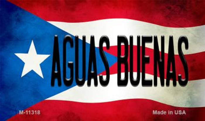 Aguas Buenas Puerto Rico State Flag Novelty Metal Magnet M-11318