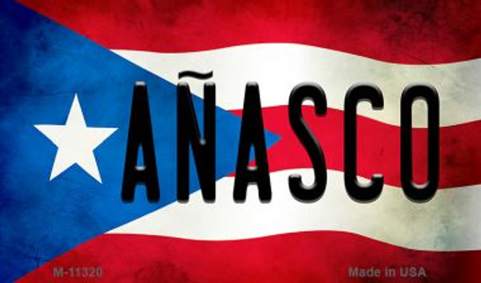 Anasco Puerto Rico State Flag Novelty Metal Magnet M-11320
