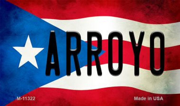 Arroyo Puerto Rico State Flag Novelty Metal Magnet M-11322